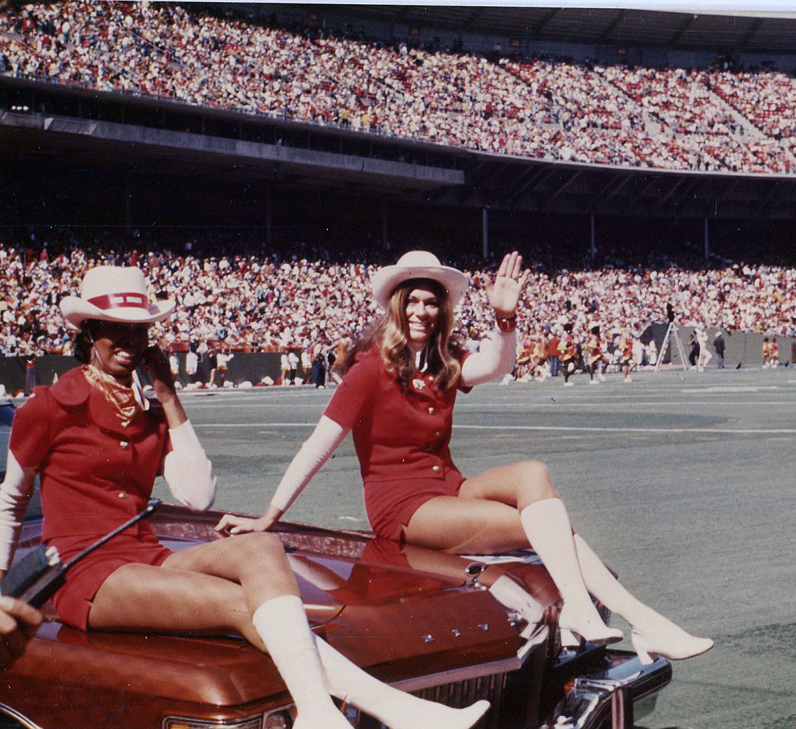 The 1973 San Francisco 49er Nugget Cheerleaders in action