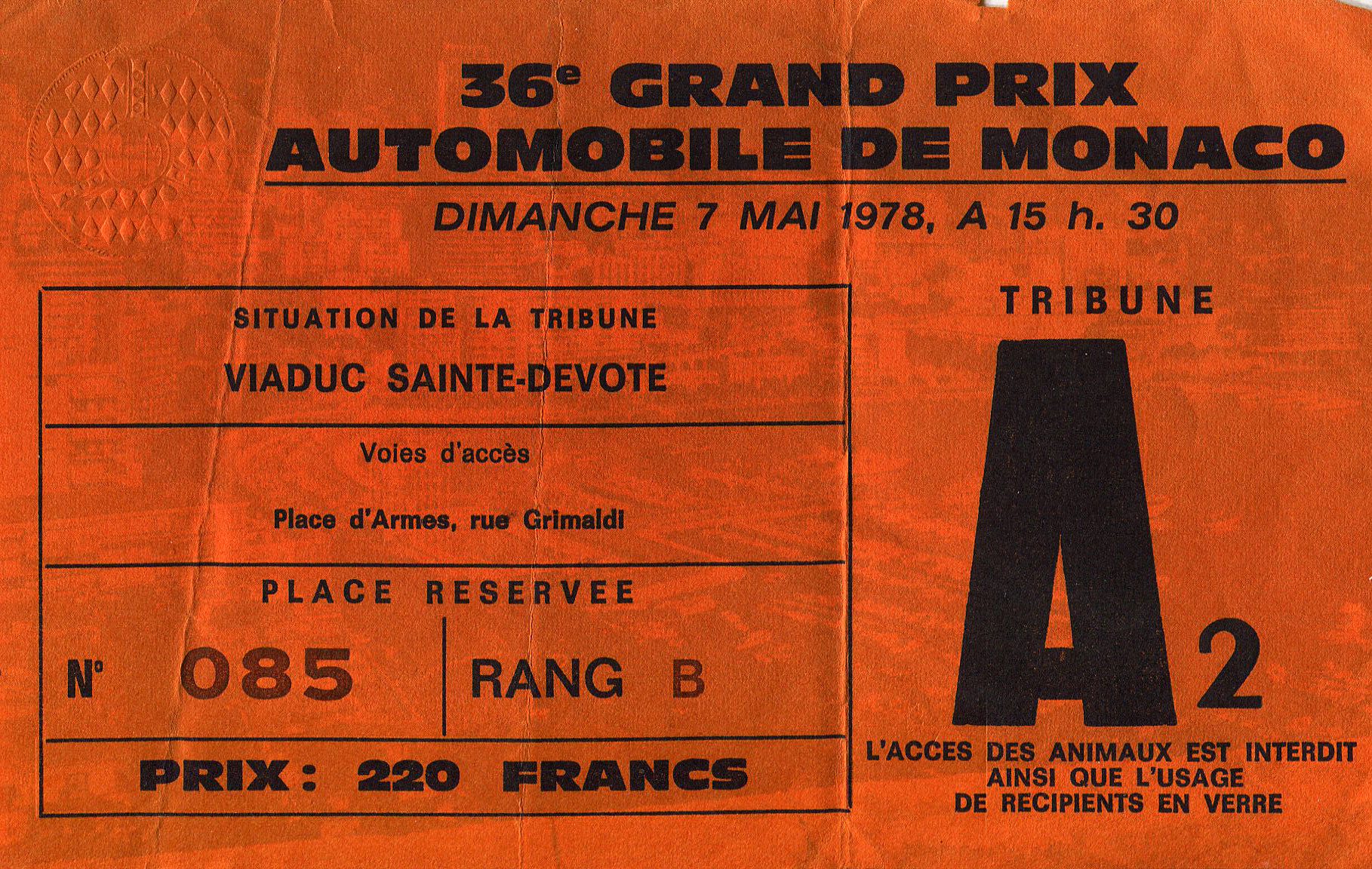 Monaco GP ticket