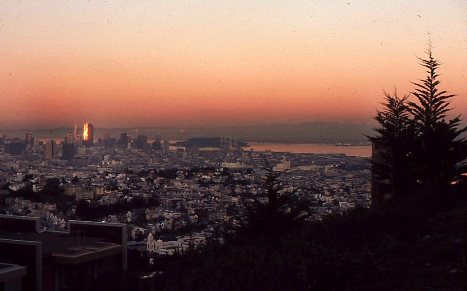 Sunset january 1974
