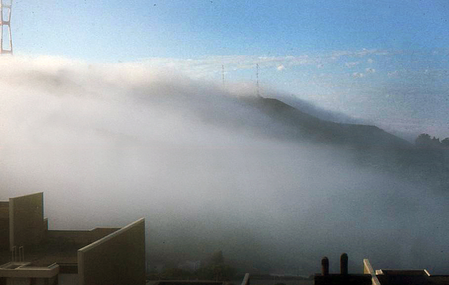 Fog rolling over Twin Peaks