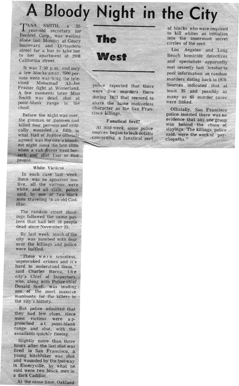 SF Chronicle, Tuesday January 29, 1974 (c) SF Chronicle 1974
